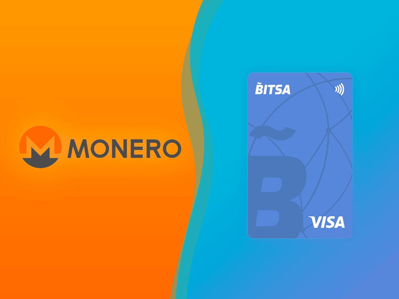 Recargar tarjeta Bitsa con Monero XMR